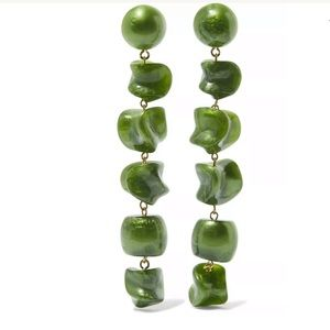 CULT GAIA Women's Green Leo acrylic earrings